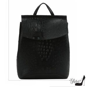 Ostrich Embossed Adult Backpack